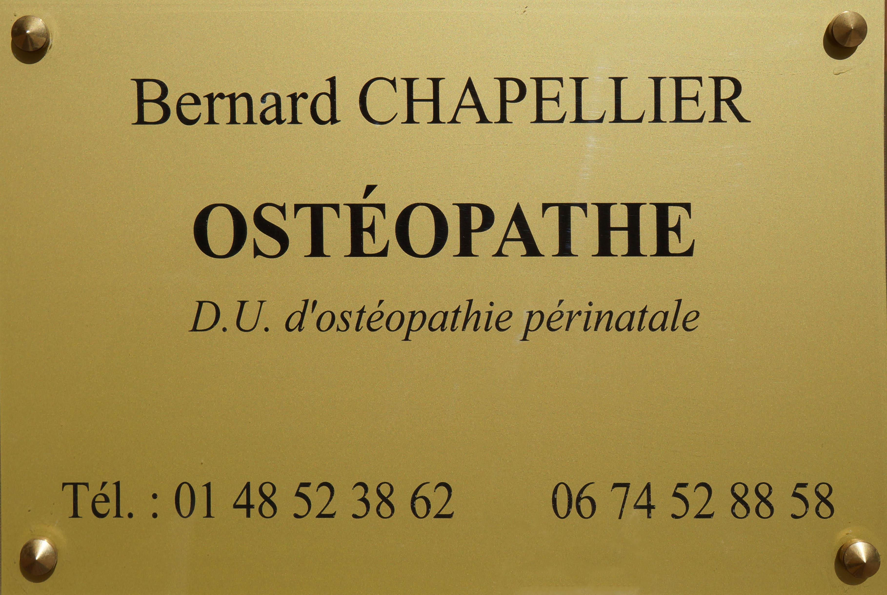 Bernard Chapellier Osteopathe 93